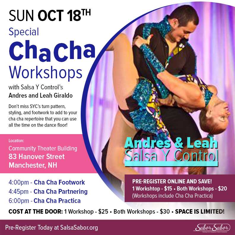 Learn to dance Cha Cha Cha in Manchester NH