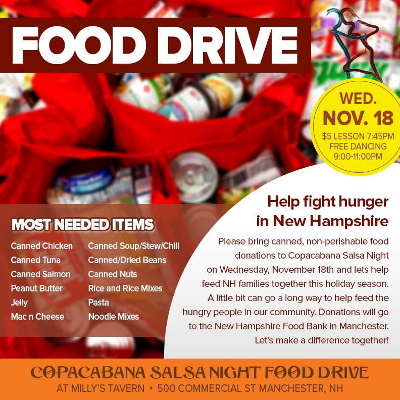 Food Drive to Benefit The New Hampshire Food Bank
