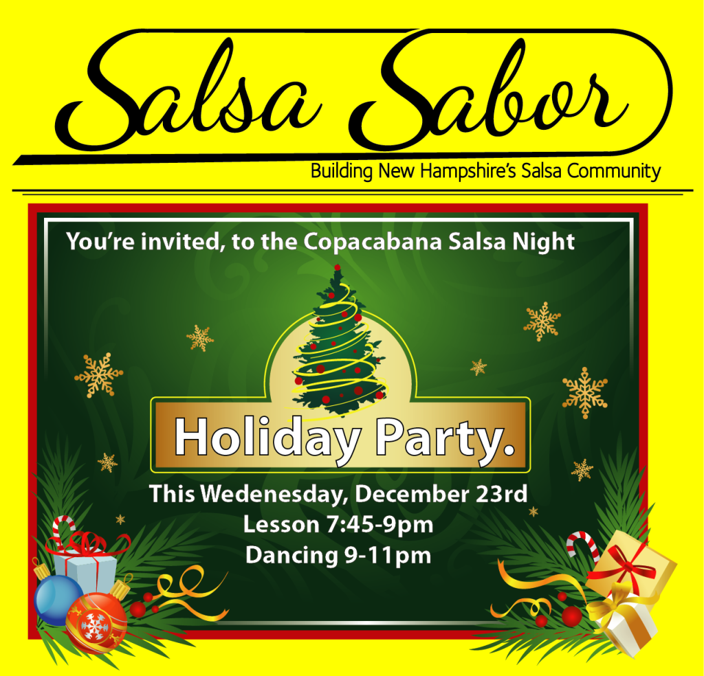 Holiday Salsa Party New Hampshire