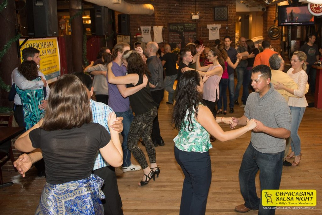 copacabana salsa night millys tavern manchester every weds