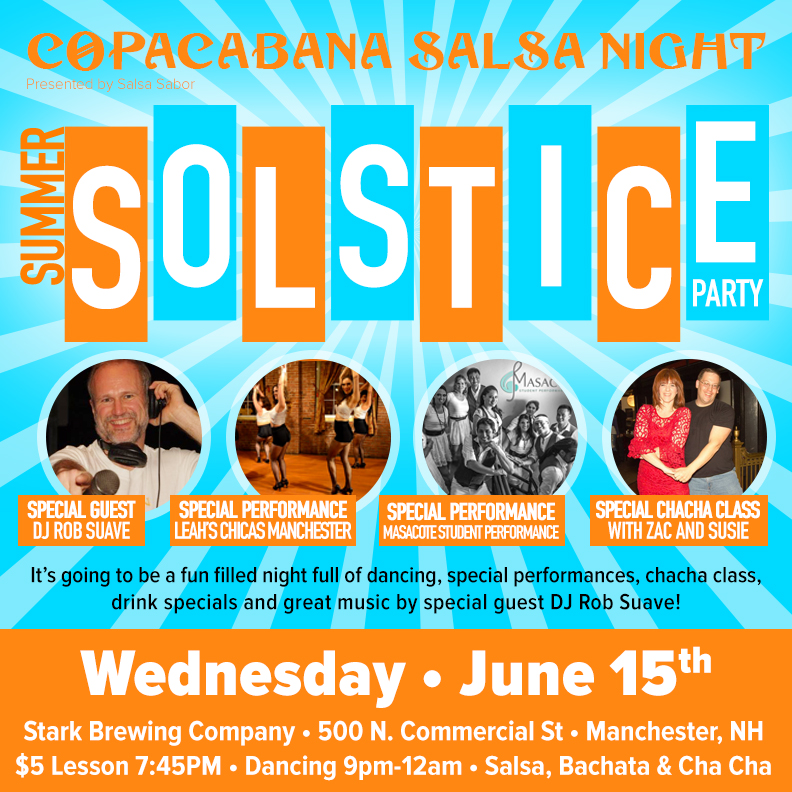 Salsa Party Summer NH New Hampshire Manchester