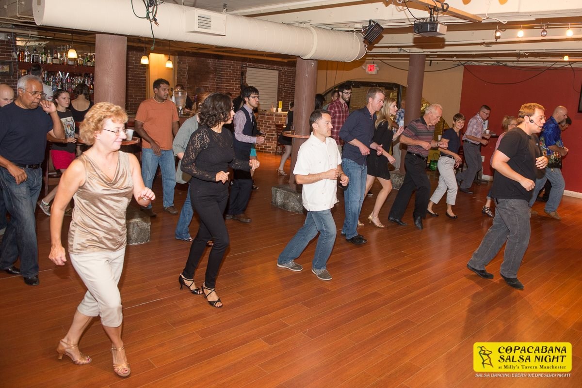 Salsa dancing every wednesday in Manchester New Hampshire