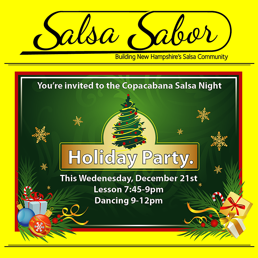 Salsa Holiday Christmas Xmas dance Party