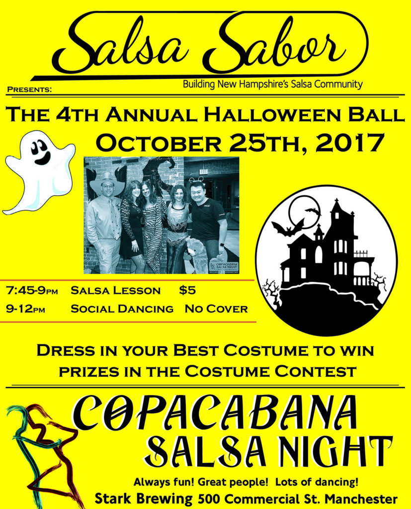 Halloween Ball salsa bachata party costume contest